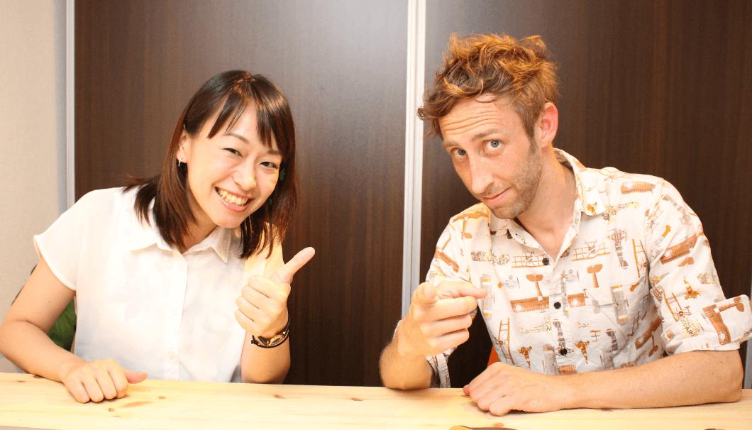 SAKETIMESInternationalを運営する古川理恵さんとポッツジャスティンさん
