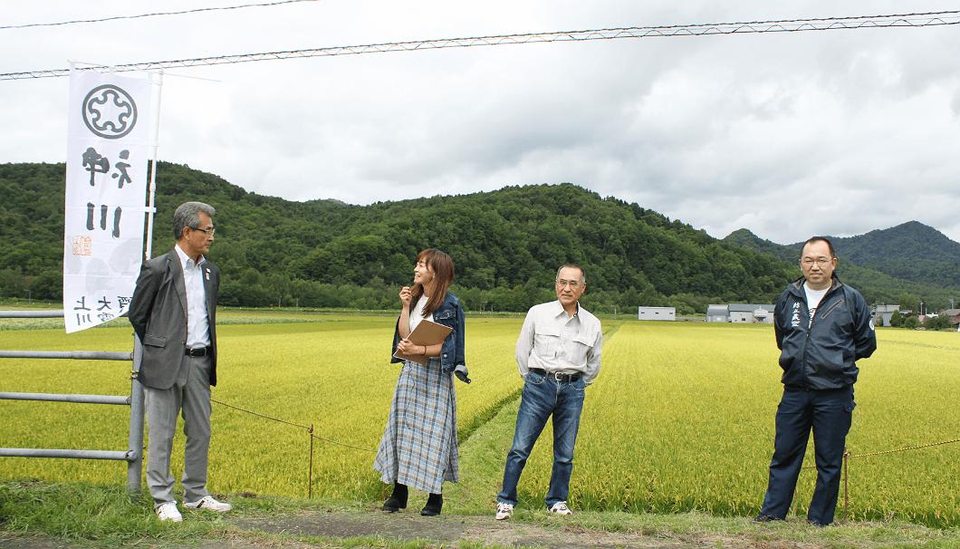 佐藤町長、川端杜氏、酒米生産者の柴田さんのクロストーク