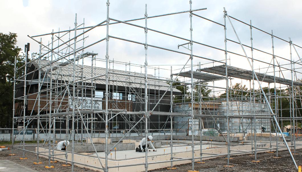 上川大雪酒造 緑丘蔵の建設中の新施設
