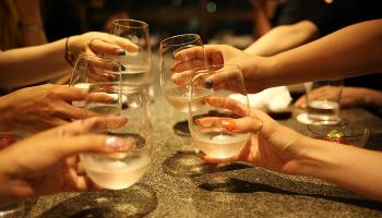 「十六代九郎右衛門 低アルコール 原酒 生」で乾杯