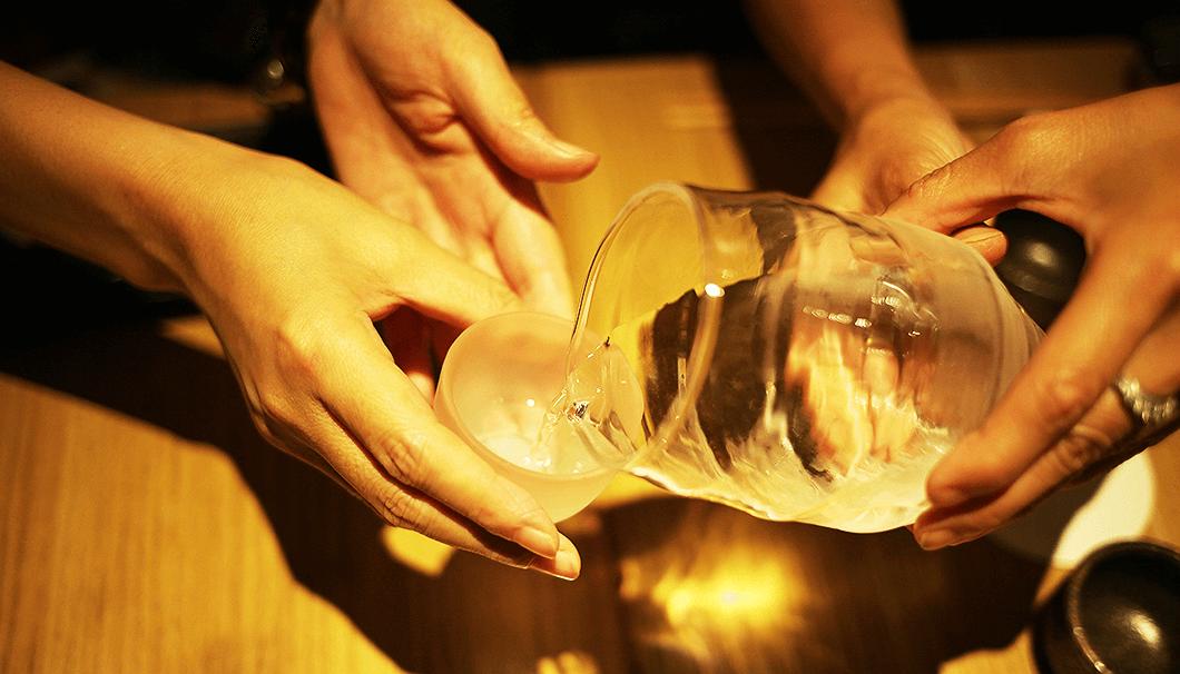 「十六代九郎右衛門 山廃特別純米 赤磐雄町」の冷酒