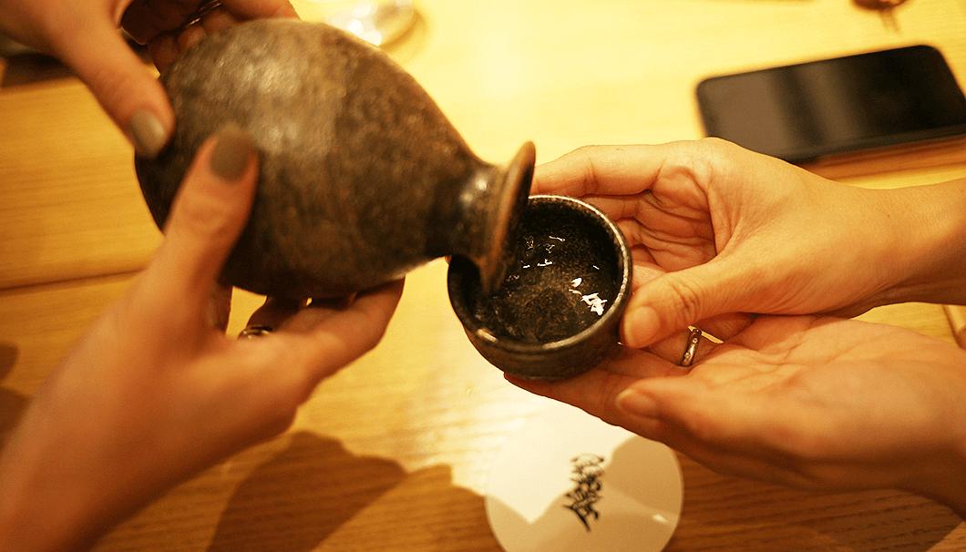 「十六代九郎右衛門 山廃純米 美山錦」の燗酒