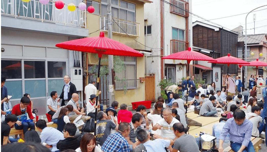 小田原日本酒祭りの開催風景