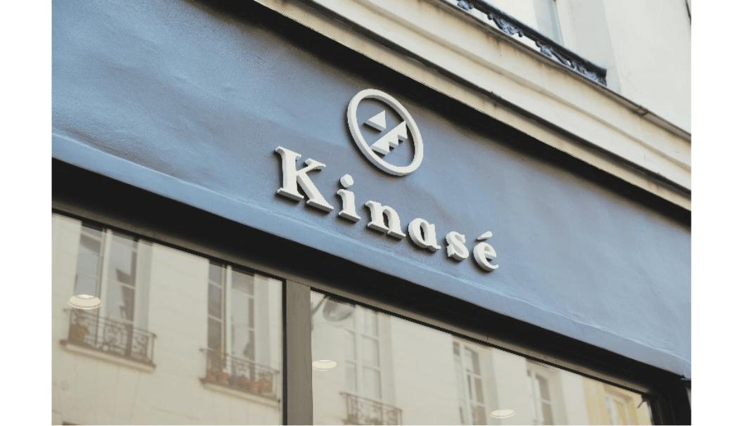 パリ新潟専門店「Kinase(キナセ)」の看板