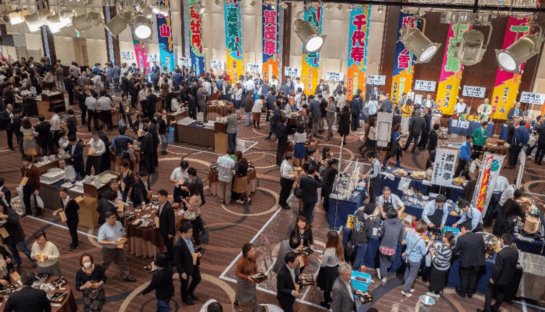 日本名門酒会が主催する「日本酒天国 東京大試飲会」の様子