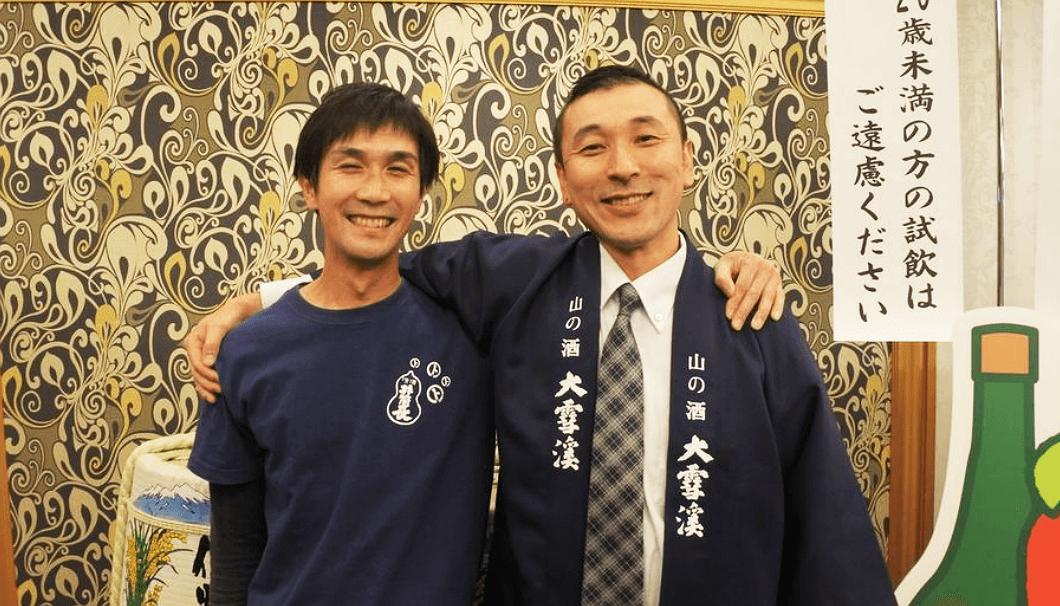 黒澤酒造杜氏の黒澤洋平さん(写真左)と大雪渓酒造杜氏の長瀬護さん(写真右)