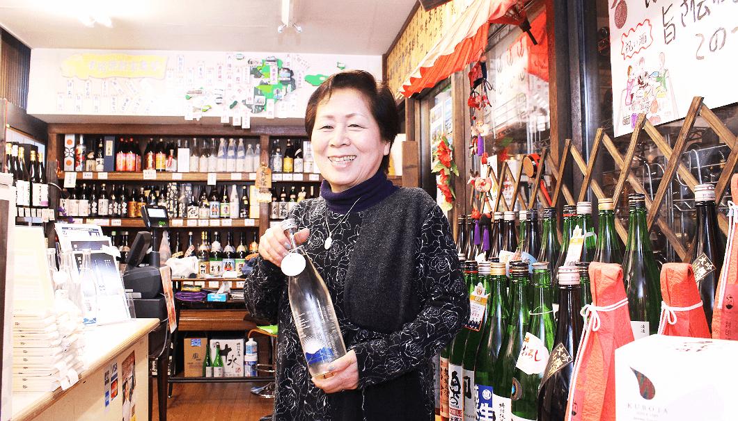 市川市の酒屋「成桝商店」の店長、石原敏子さん