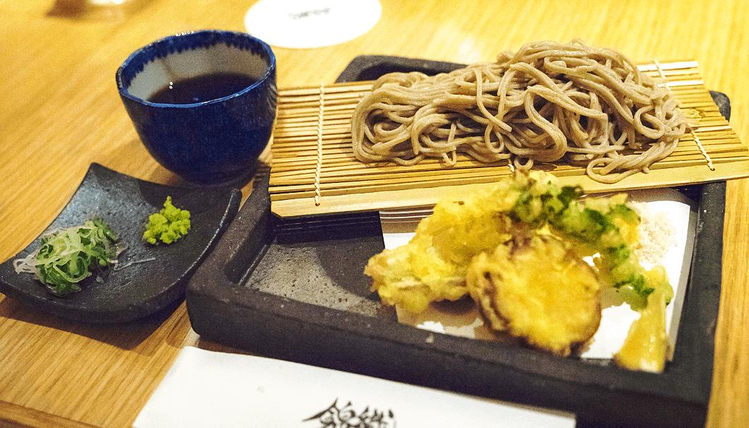 太刀魚の天婦羅とせいろ蕎麦