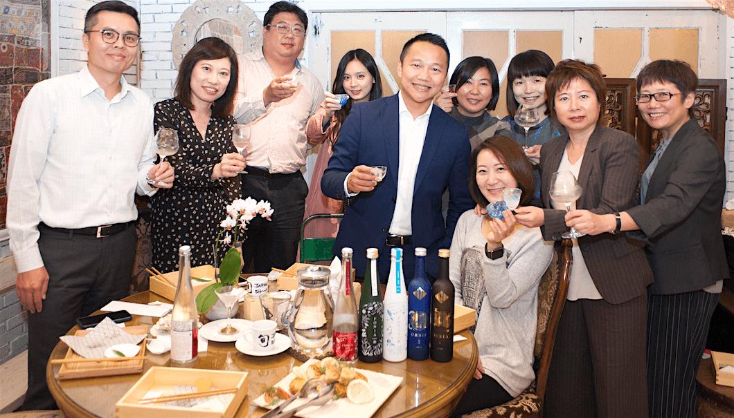 株式会社WAKAZEが台湾への出荷開始を記念したパーティーの写真