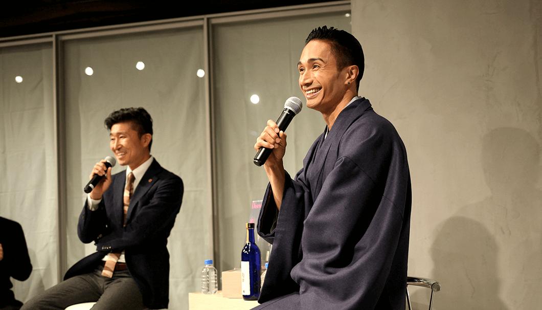 『Discover Japan』編集長の高橋さんと橘ケンチさん