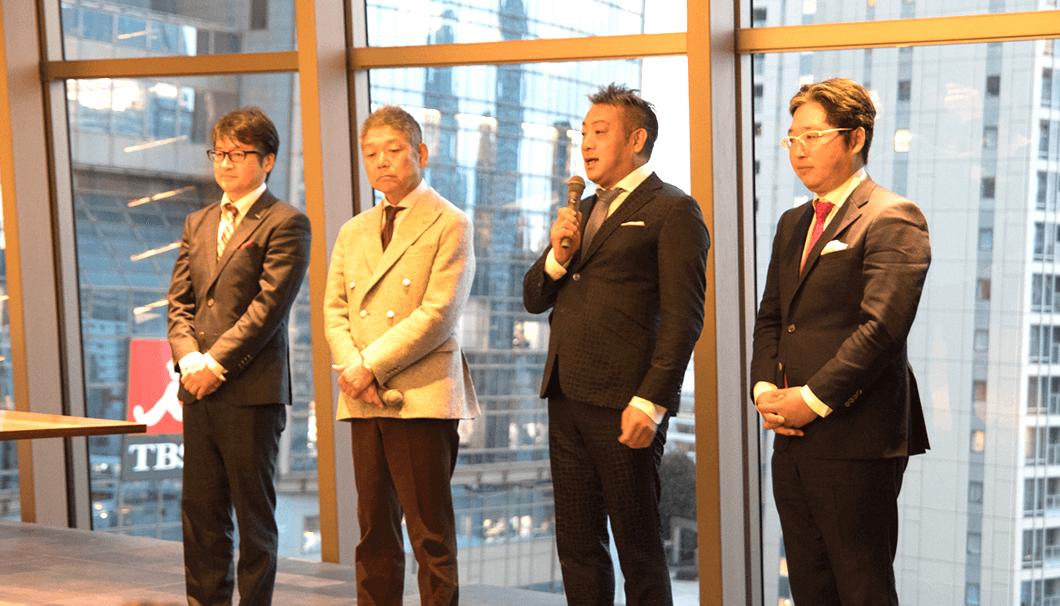 横山雄三さん(左) 長谷川浩一さん(中左) 澄川宜史さん(中右) 横山太三さん(右)