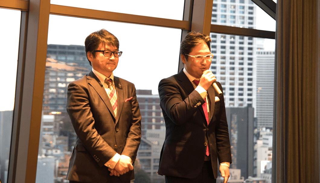横山雄三さん(左) 横山太三(たいぞう)さん(右)