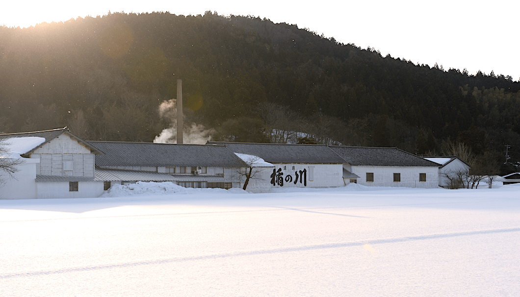 庄内の冬の風景