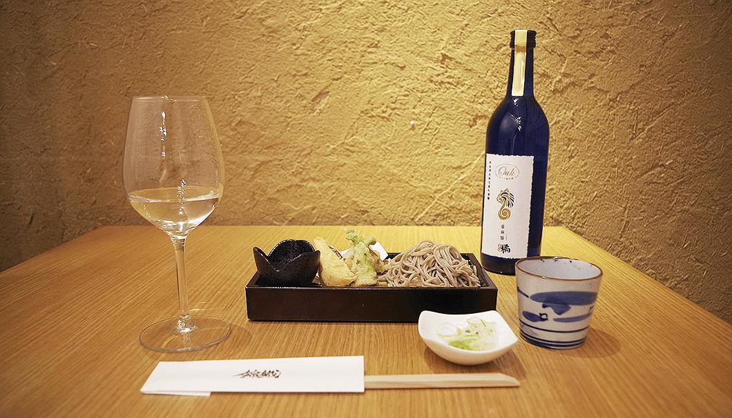 「亜麻猫橘」と蕎麦、天ぷら