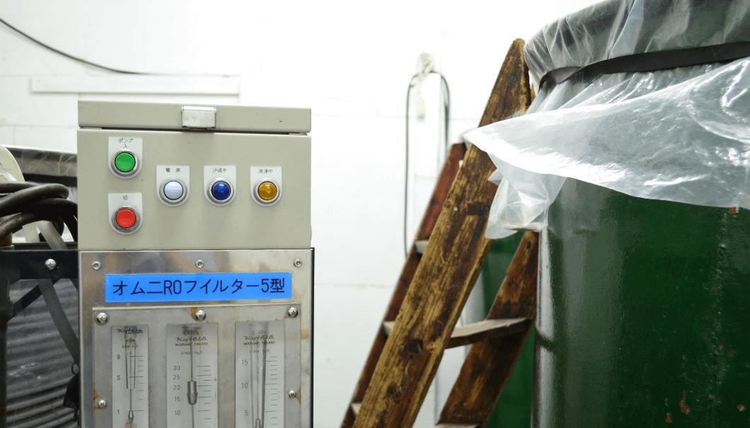 浅勘酒造店の濾過機