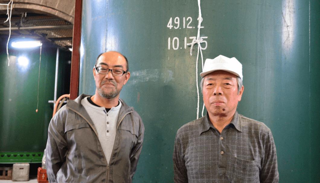 田中酒造店の中川杜氏と工藤製造課長