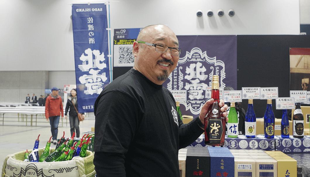 北雪酒造の羽豆さん(「にいがた酒の陣 2019」にて)