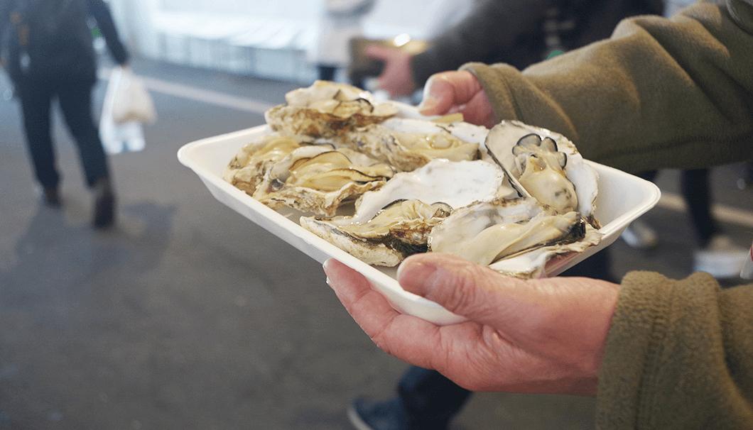 牡蠣(「にいがた酒の陣 2019」にて)