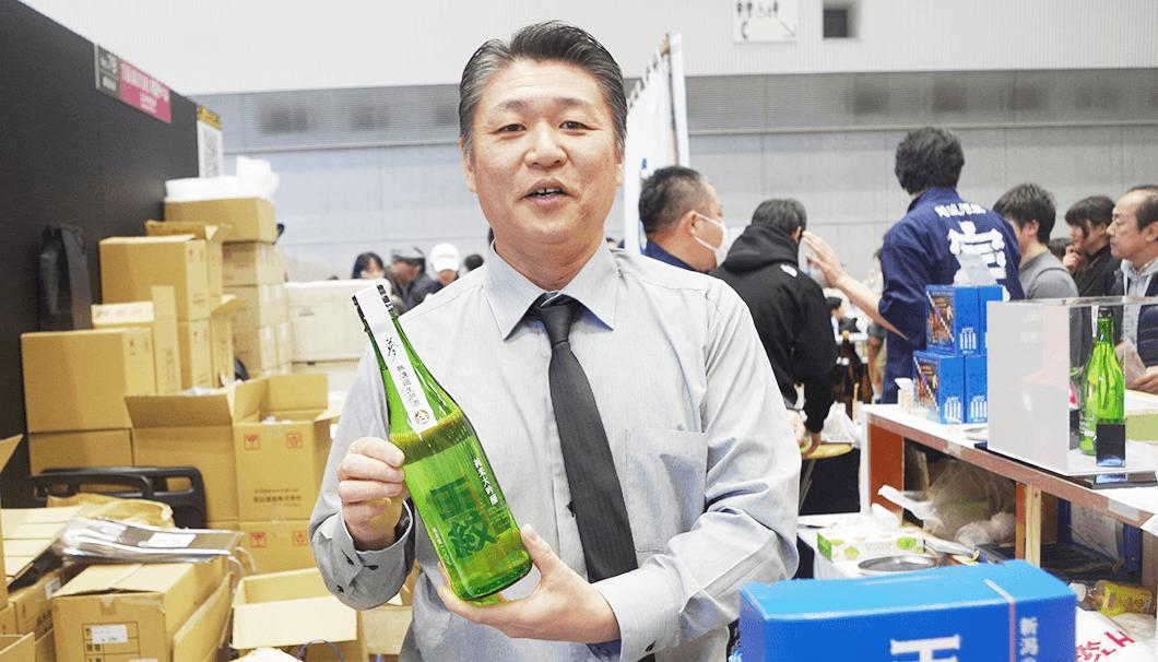 市島酒造のスタッフ(「にいがた酒の陣 2019」にて)