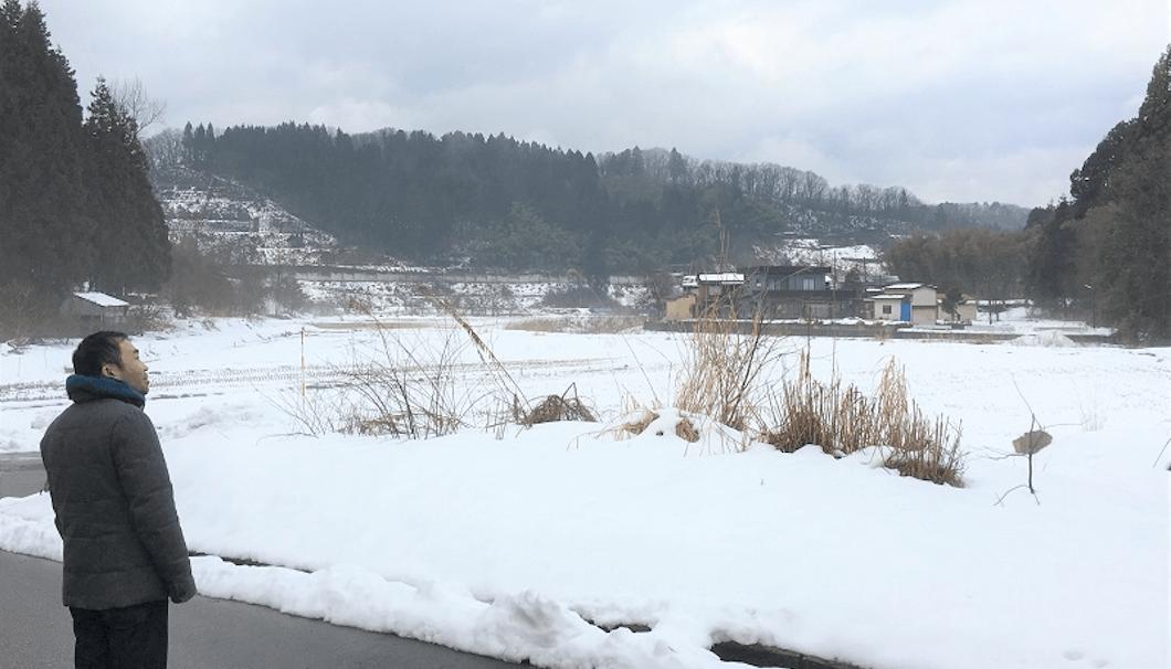 長岡市北部大積地区の風景