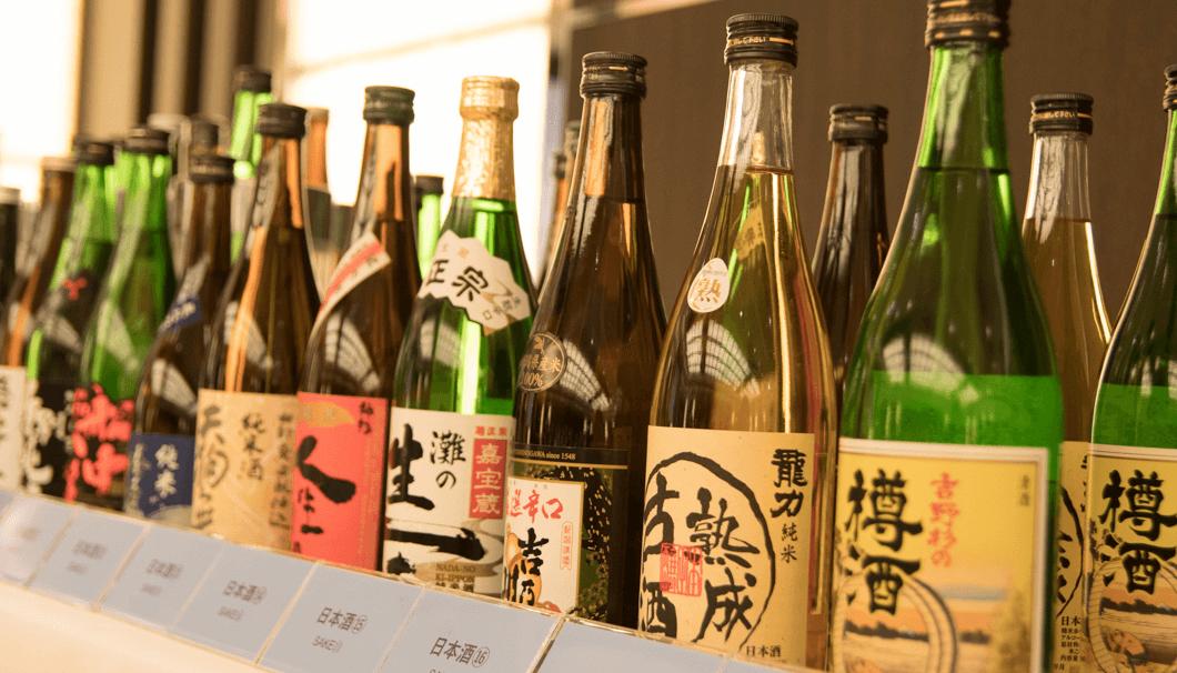 ロールプレイで準備された日本酒