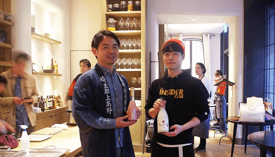 石井酒造の石井さん(写真左)と、MUEZの上田さん(写真右)
