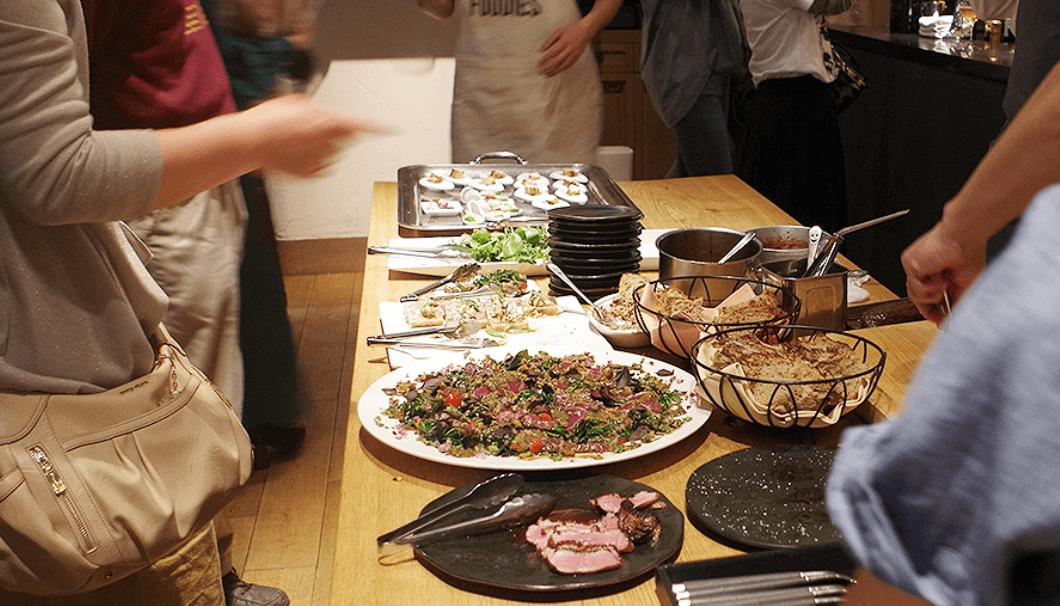 LA BONNE TABLE 5周年イベントの料理