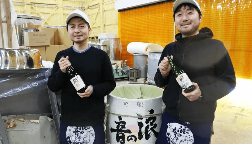 佐々木酒造店 蔵元専務の佐々木洋さん(写真右)と、弟で杜氏の佐々木淳平さん(写真左)