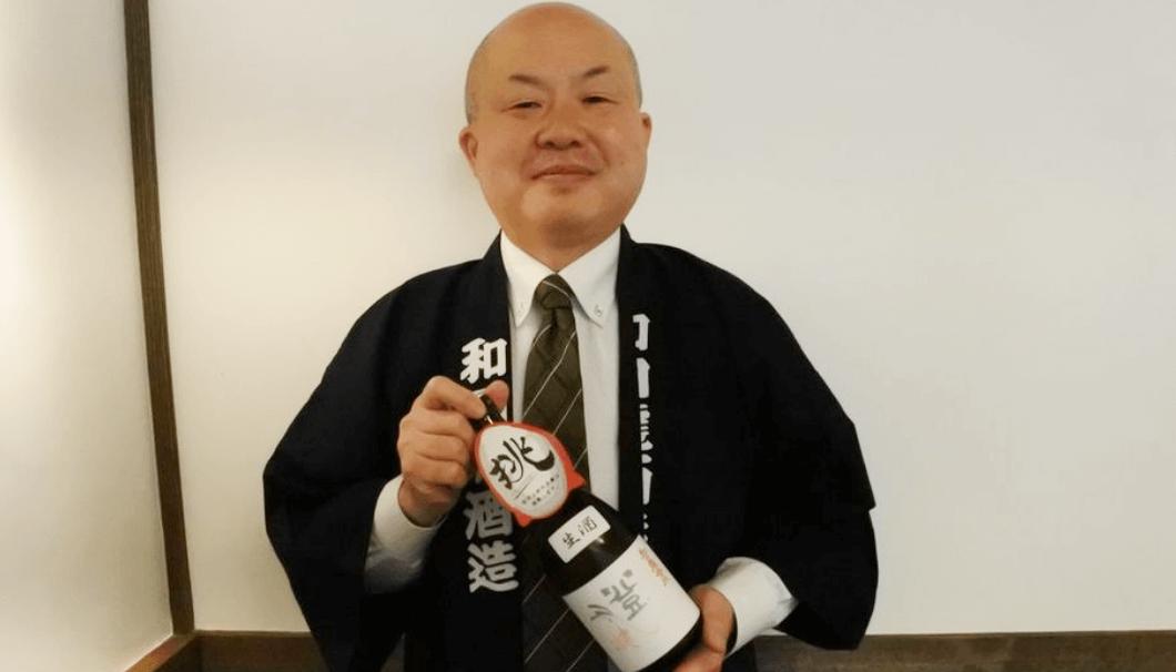 「和田龍 登水」を醸す和田龍酒造の和田澄夫社長。