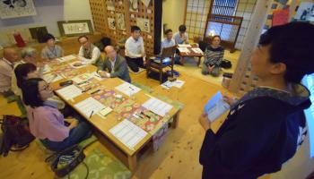 前回の日本酒教室の様子