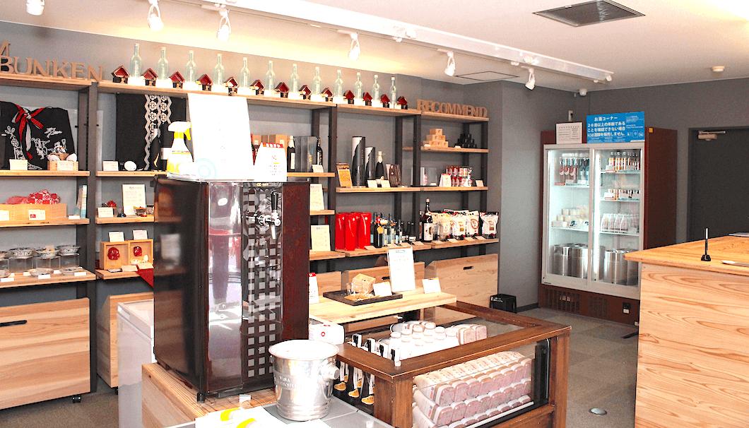 菊水酒造の売店