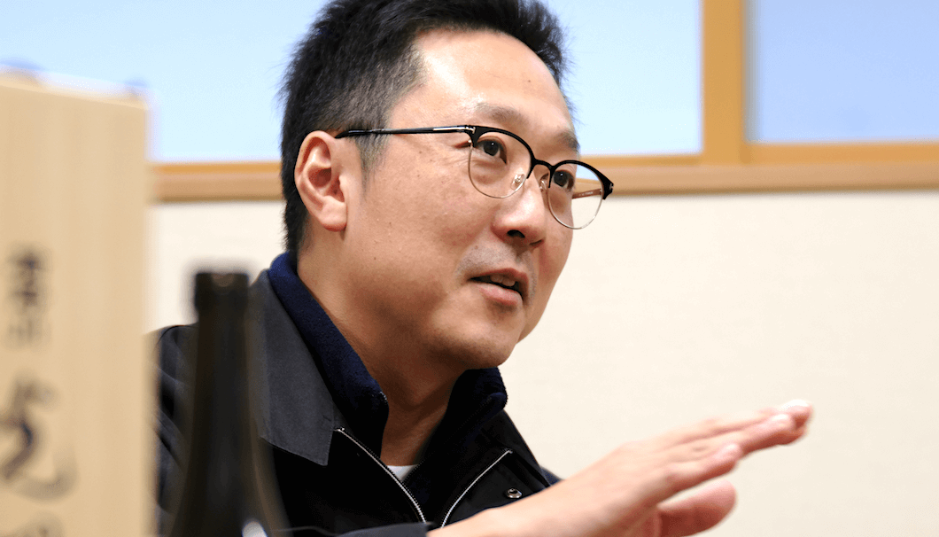 楯の川酒造の社長・佐藤淳平さん