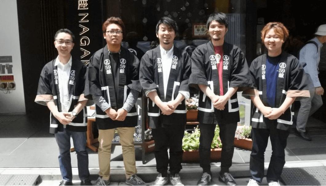 長野県の若手蔵元ユニット59醸のメンバー