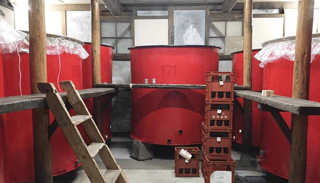 池月酒造の仕込みタンク
