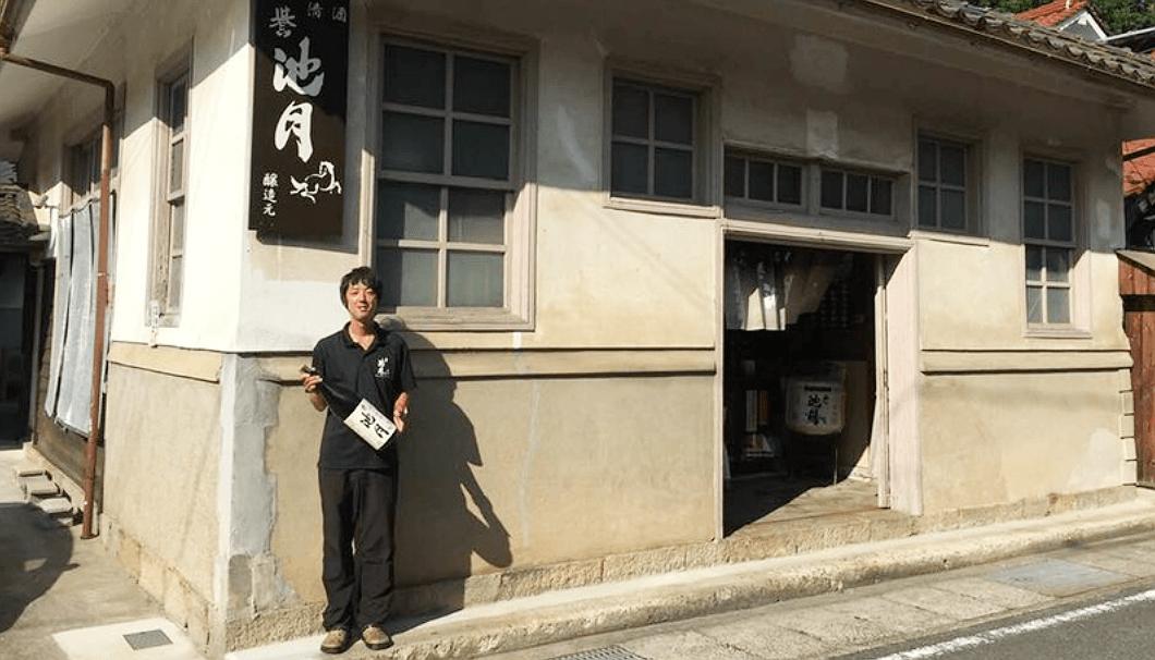 池月酒造の蔵元、末田誠一さん