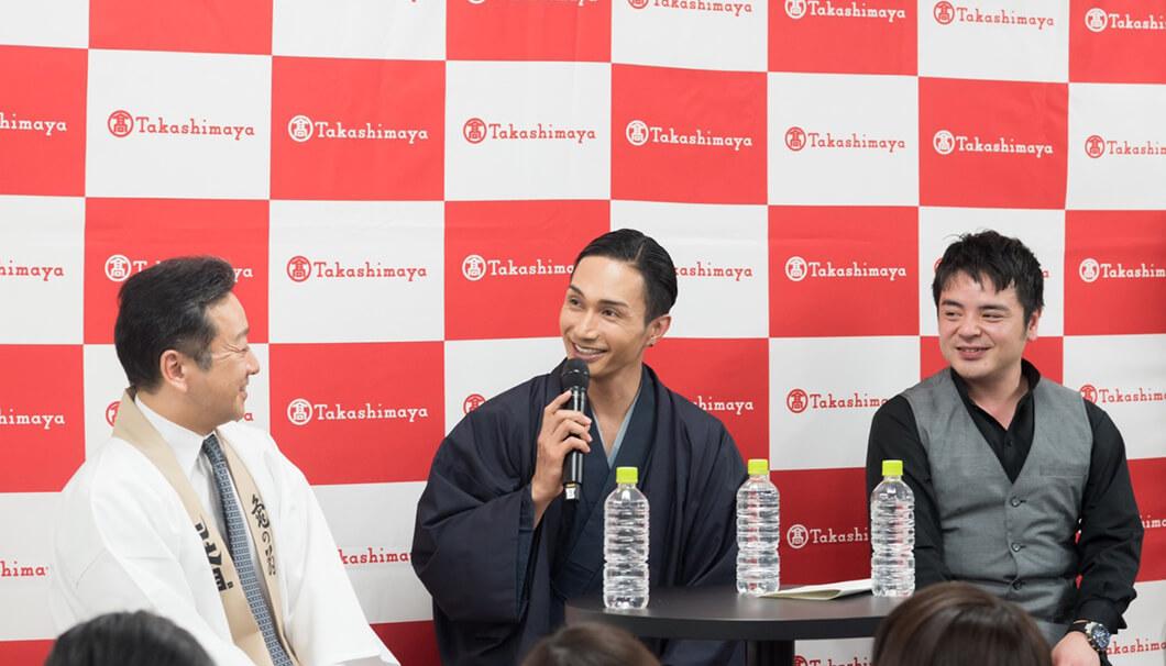 酒サムライ、EXILEパフォーマーの橘ケンチさんを含めたトークイベントの様子