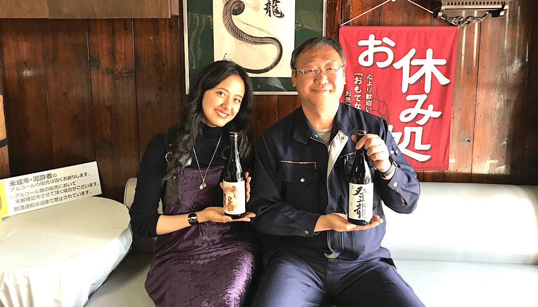 浦浜さんと大谷忠吉本店の蔵元・大谷さん