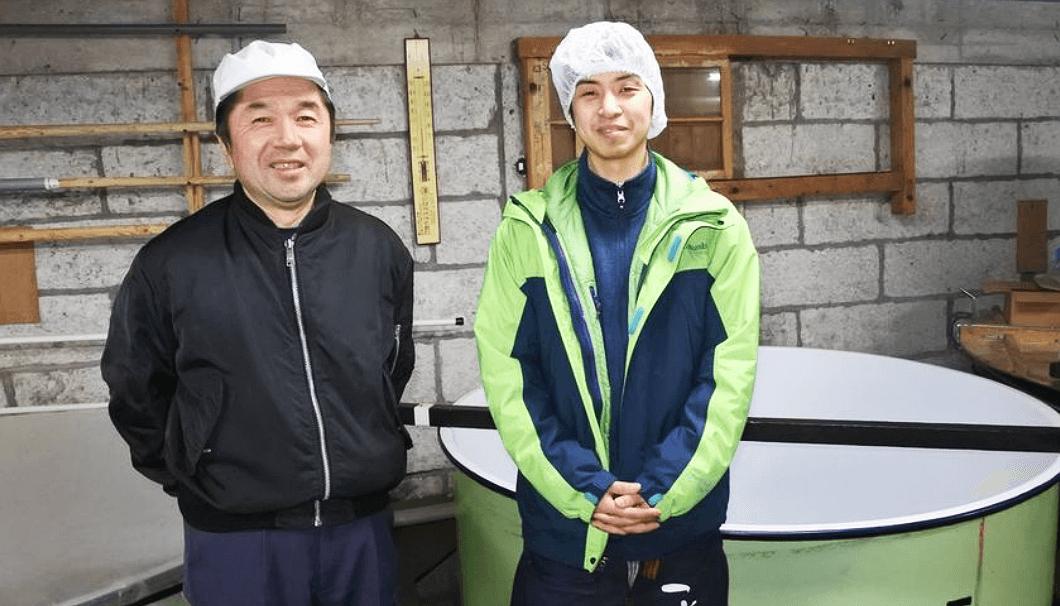 中勇酒造店の中島崇文さん(右)と上野和彦さん