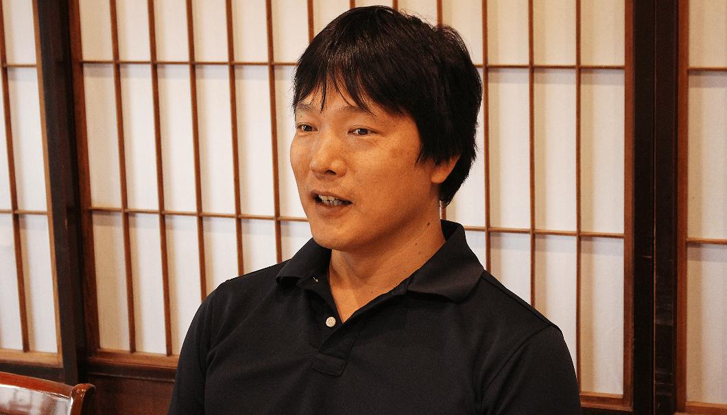 小浜酒造 取締役の高岡明輝さん