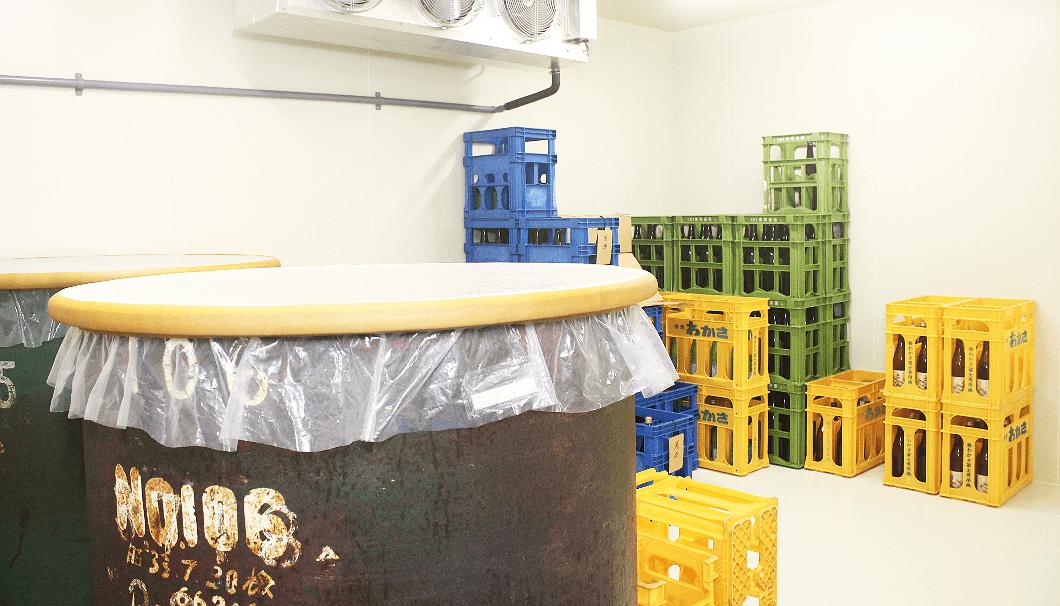 小浜酒造の仕込みタンク