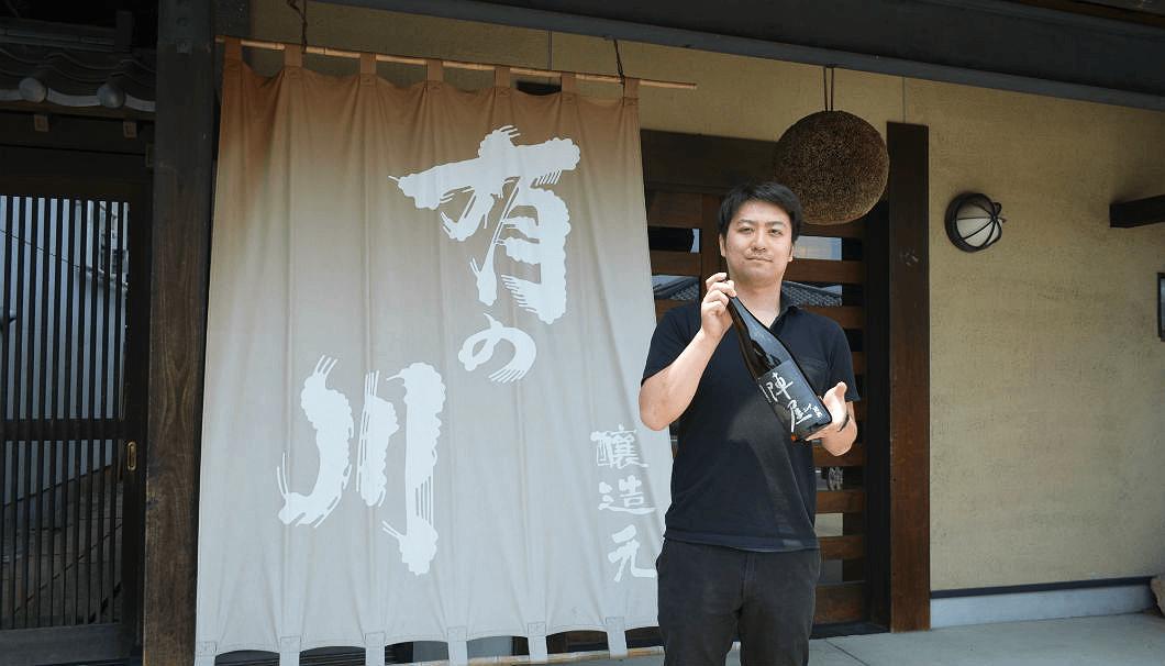 有賀醸造の蔵元で杜氏の有賀裕二郎さん