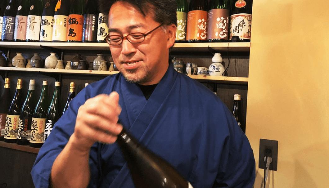「そばダイニング 龍庵(りゅうあん)」地酒バー担当の渡邉さん