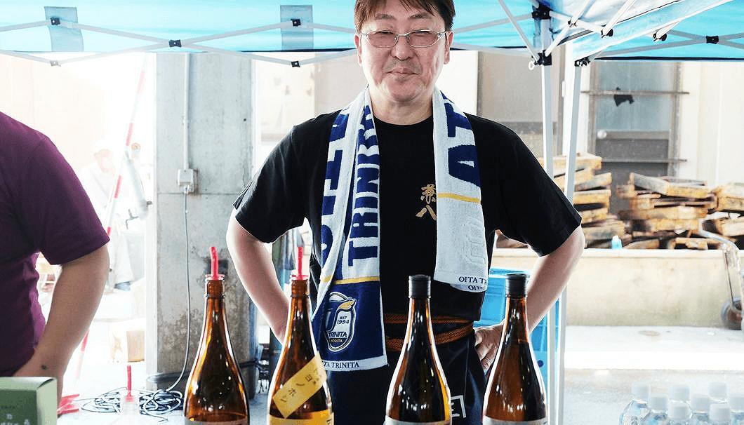 四ッ谷酒造の5代目、専務の四ッ谷岳昭さん