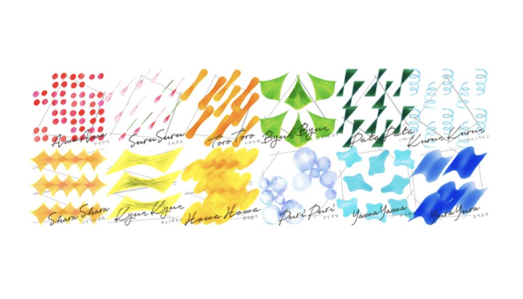 オノマトペ(擬音語)で表された12種類の味覚タイプ