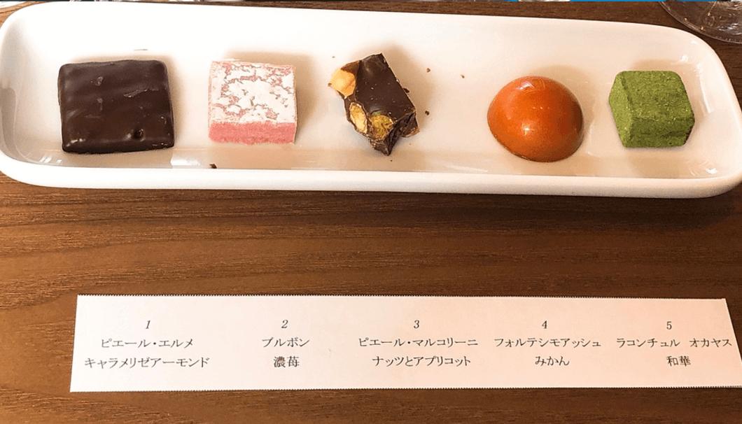 YATA×SAKAKURAお見合いイベントでよういされたチョコレートレートチ