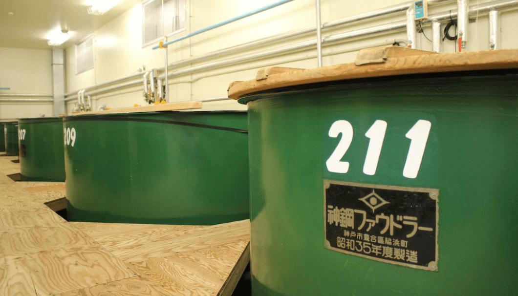 仙台伊澤家勝山酒造のタンク