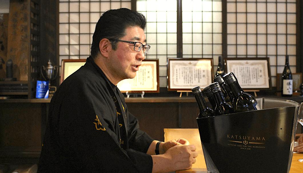 勝山酒造の代表取締役社長・伊澤平蔵さん