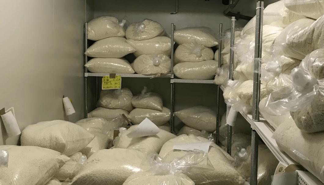 麹米のある冷凍庫