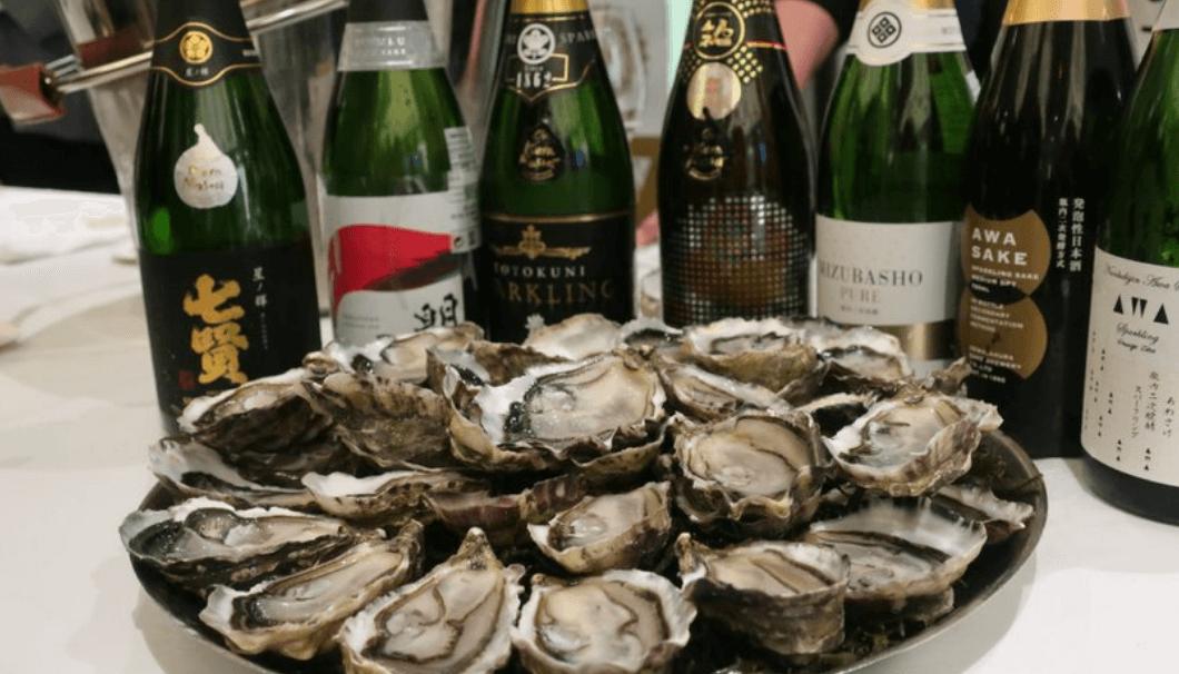 シャンパンと牡蠣