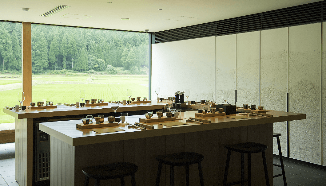 農口尚彦研究併設のテイスティングルーム「杜庵」